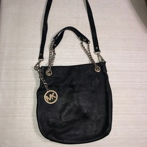 Michael Kors Black soft leather cross body bag